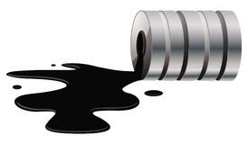 Oil spill. Cartoon illustration of an oil spill Royalty Free Stock Images