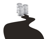 Oil spill. Illustration design over a white background Stock Photography