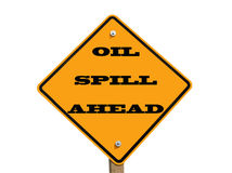 Oil spill ahead sign Royalty Free Stock Photography