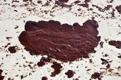 Oil Spill on Beach Stock Images