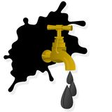 Oil spill and faucet Royalty Free Stock Image