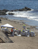 Oil Spill Hazmat Clean Up Stock Image