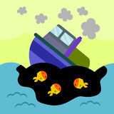 Oil spill Royalty Free Stock Photography