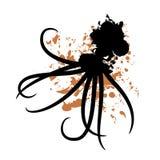 Oil spill octopus Stock Photos