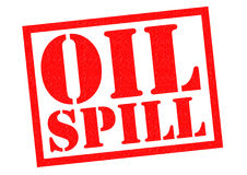 OIL SPILL. Red Rubber Stamp over a white background Royalty Free Stock Photography
