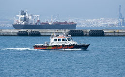 Oil Spill Response Ship Royalty Free Stock Image