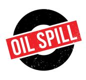 Oil Spill rubber stamp. Grunge design with dust scratches. Effects can be easily removed for a clean, crisp look. Color is easily changed Royalty Free Stock Photography