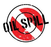 Oil Spill rubber stamp Royalty Free Stock Photo