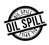 Oil Spill rubber stamp Royalty Free Stock Image
