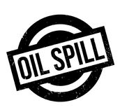 Oil Spill rubber stamp. Grunge design with dust scratches. Effects can be easily removed for a clean, crisp look. Color is easily changed Stock Photo