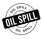 Oil Spill rubber stamp. Grunge design with dust scratches. Effects can be easily removed for a clean, crisp look. Color is easily changed Stock Images