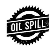 Oil Spill rubber stamp Stock Image