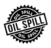 Oil Spill rubber stamp. Grunge design with dust scratches. Effects can be easily removed for a clean, crisp look. Color is easily changed Stock Image