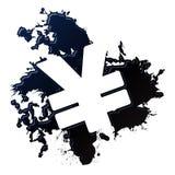 Oil spill yen. Yen symbol reversed out of an oil spill Stock Photography