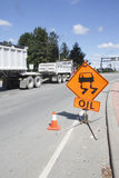Oil Spilled Sign Stock Image