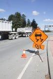 Oil Spilled Sign Stock Image