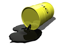 Oil spilling 1 Royalty Free Stock Image