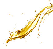 Oil splash Stock Photography