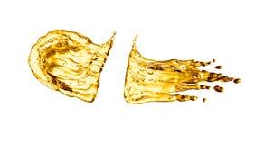 Oil splash on white background Stock Image