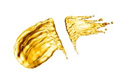 Oil splash on white background. 3d rendering Stock Photography