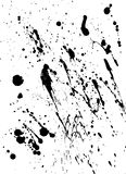 Oil Spots. Pattern of black oil / paint spots royalty free illustration