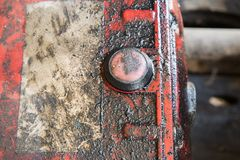 Free Oil Stain From Old Engine Stock Photos - 111488063
