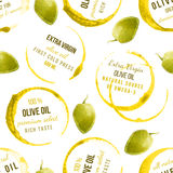 Oil stains seamless with type designs Royalty Free Stock Photos