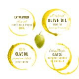 Oil stains with type designs Stock Photo