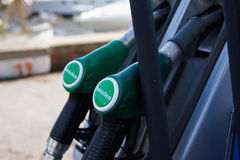 Oil Station. Close up of fuel pump at fuel/oil station Royalty Free Stock Photography