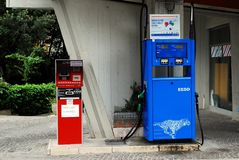 Oil station in the Rome city on May 31, 2014 Stock Image