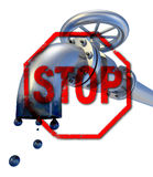 Oil Stop Royalty Free Stock Photo