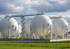 Oil storage Stock Photos