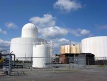 Oil Storage. Gasoline And Oil Storage Distribution Terminal Royalty Free Stock Photos