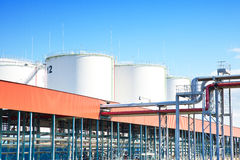 Oil storage. Industrial park photo Royalty Free Stock Image
