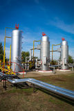 Oil storage and pipeline Stock Images