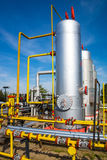 Oil storage and pipeline Royalty Free Stock Photos
