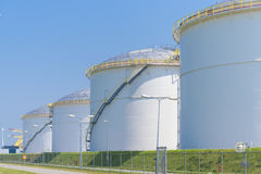 Oil storage in the port of amsterdam Stock Photography