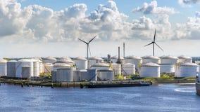 Oil storage silo Stock Photo