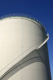Oil storage with stairs Royalty Free Stock Images