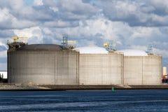 Oil storage tank Stock Photos