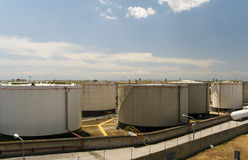 Oil Storage Tank Royalty Free Stock Photo