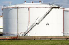 Oil storage tank Stock Images