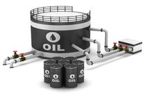 Oil storage tank stock illustration