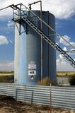Oil Storage Tank 47. Oil well and storage tanks in the Texas Panhandle Stock Photo