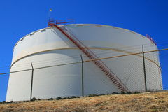 Oil Storage Tank. Close up of an oil storage tank Royalty Free Stock Images
