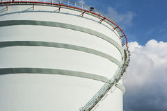 Oil storage tank Stock Photo