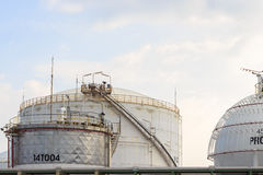 Oil storage tank Stock Image