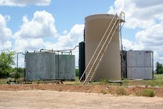 An Oil Storage Tank In East Texas. SONY DSC This is An Oil Storage Tank In East Texas. The near by Oil Wells pump oil out of the ground into this storage tank royalty free stock photography