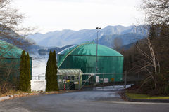 Oil storage tank Kinder Morgan Stock Image