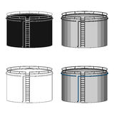Oil storage tank.Oil single icon in cartoon style vector symbol stock illustration web. Oil storage tank.Oil single icon in cartoon style vector symbol stock Royalty Free Stock Photos